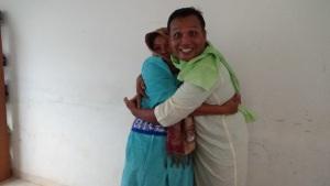 Bpk Pdt Supriadi dan Ibu Pdt Lidya, sepasang suami isteri ini memerankan Adam dan Hawa dalam diorama.